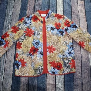 NWT Alfred Dunner Multicolor Top Cardigan Jacket 8